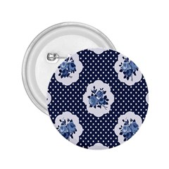 Shabby Chic Navy Blue 2 25  Buttons by 8fugoso