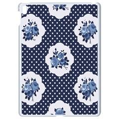 Shabby Chic Navy Blue Apple Ipad Pro 9 7   White Seamless Case by 8fugoso