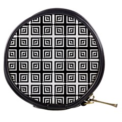 Seamless Pattern Background Black And White Mini Makeup Bags by Onesevenart
