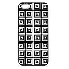 Seamless Pattern Background Black And White Apple Iphone 5 Seamless Case (black) by Onesevenart