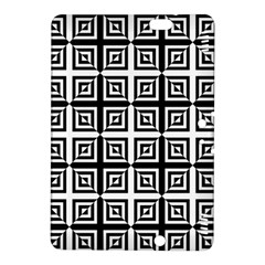 Seamless Pattern Background Black And White Kindle Fire Hdx 8 9  Hardshell Case by Onesevenart