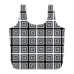 Seamless Pattern Background Black And White Full Print Recycle Bags (l)  by Onesevenart