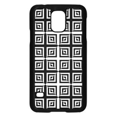 Seamless Pattern Background Black And White Samsung Galaxy S5 Case (black) by Onesevenart