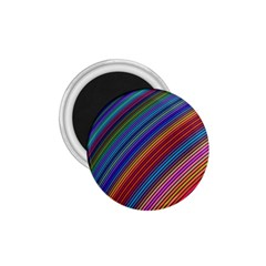 Multicolored Stripe Curve Striped 1 75  Magnets by Onesevenart