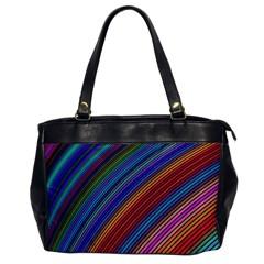 Multicolored Stripe Curve Striped Office Handbags by Onesevenart