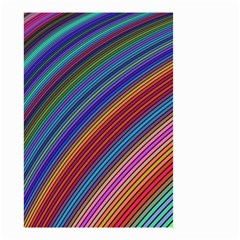 Multicolored Stripe Curve Striped Small Garden Flag (two Sides) by Onesevenart