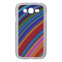 Multicolored Stripe Curve Striped Samsung Galaxy Grand Duos I9082 Case (white) by Onesevenart