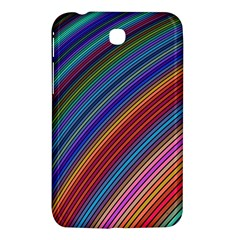 Multicolored Stripe Curve Striped Samsung Galaxy Tab 3 (7 ) P3200 Hardshell Case  by Onesevenart