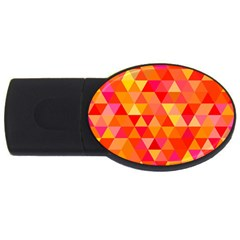 Triangle Tile Mosaic Pattern Usb Flash Drive Oval (4 Gb) by Onesevenart