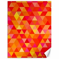 Triangle Tile Mosaic Pattern Canvas 18  X 24   by Onesevenart