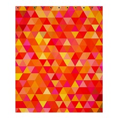 Triangle Tile Mosaic Pattern Shower Curtain 60  X 72  (medium)  by Onesevenart