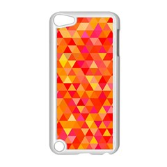 Triangle Tile Mosaic Pattern Apple Ipod Touch 5 Case (white) by Onesevenart