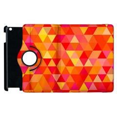 Triangle Tile Mosaic Pattern Apple Ipad 3/4 Flip 360 Case by Onesevenart