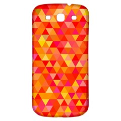 Triangle Tile Mosaic Pattern Samsung Galaxy S3 S Iii Classic Hardshell Back Case by Onesevenart
