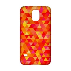 Triangle Tile Mosaic Pattern Samsung Galaxy S5 Hardshell Case  by Onesevenart