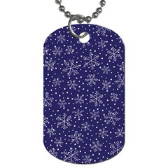 Snowflakes Pattern Dog Tag (one Side) by Onesevenart