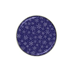 Snowflakes Pattern Hat Clip Ball Marker (4 Pack) by Onesevenart