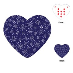 Snowflakes Pattern Playing Cards (heart)  by Onesevenart