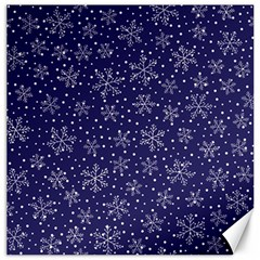 Snowflakes Pattern Canvas 12  X 12   by Onesevenart