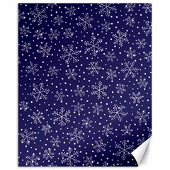 Snowflakes Pattern Canvas 16  X 20   by Onesevenart