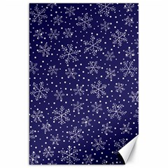 Snowflakes Pattern Canvas 20  X 30   by Onesevenart