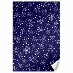 Snowflakes Pattern Canvas 24  X 36  by Onesevenart