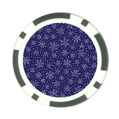 Snowflakes Pattern Poker Chip Card Guard by Onesevenart