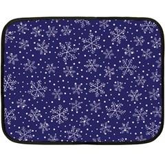 Snowflakes Pattern Fleece Blanket (mini) by Onesevenart