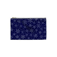 Snowflakes Pattern Cosmetic Bag (small)  by Onesevenart