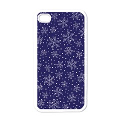 Snowflakes Pattern Apple Iphone 4 Case (white) by Onesevenart