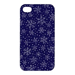 Snowflakes Pattern Apple Iphone 4/4s Hardshell Case by Onesevenart