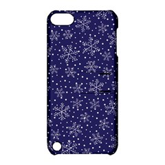 Snowflakes Pattern Apple Ipod Touch 5 Hardshell Case With Stand by Onesevenart