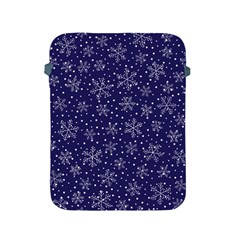 Snowflakes Pattern Apple Ipad 2/3/4 Protective Soft Cases by Onesevenart