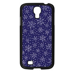 Snowflakes Pattern Samsung Galaxy S4 I9500/ I9505 Case (black) by Onesevenart