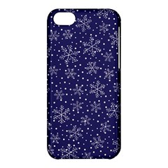 Snowflakes Pattern Apple Iphone 5c Hardshell Case by Onesevenart