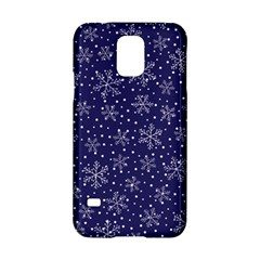 Snowflakes Pattern Samsung Galaxy S5 Hardshell Case  by Onesevenart