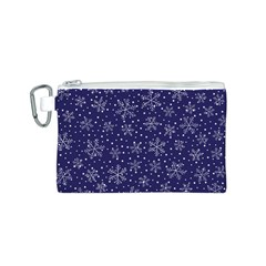 Snowflakes Pattern Canvas Cosmetic Bag (s) by Onesevenart