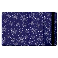 Snowflakes Pattern Apple Ipad Pro 12 9   Flip Case by Onesevenart