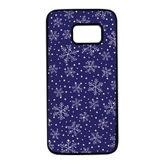 Snowflakes Pattern Samsung Galaxy S7 Black Seamless Case by Onesevenart