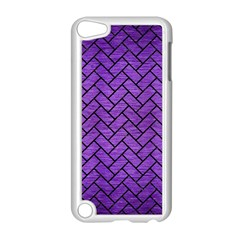 Brick2 Black Marble & Purple Brushed Metal Apple Ipod Touch 5 Case (white) by trendistuff