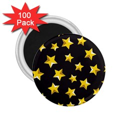 Yellow Stars Pattern 2 25  Magnets (100 Pack)  by Onesevenart