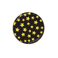 Yellow Stars Pattern Hat Clip Ball Marker (4 Pack) by Onesevenart