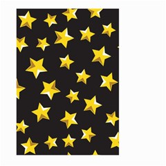 Yellow Stars Pattern Large Garden Flag (two Sides) by Onesevenart