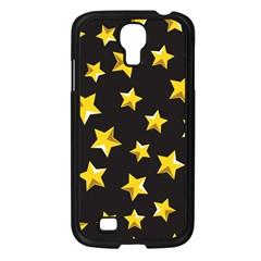 Yellow Stars Pattern Samsung Galaxy S4 I9500/ I9505 Case (black) by Onesevenart