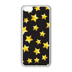 Yellow Stars Pattern Apple Iphone 5c Seamless Case (white) by Onesevenart
