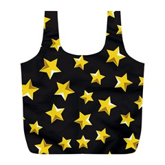 Yellow Stars Pattern Full Print Recycle Bags (l)  by Onesevenart