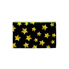 Yellow Stars Pattern Cosmetic Bag (xs) by Onesevenart