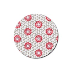 Stamping Pattern Fashion Background Rubber Round Coaster (4 Pack)  by Onesevenart
