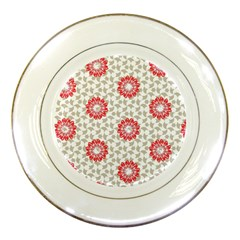 Stamping Pattern Fashion Background Porcelain Plates by Onesevenart