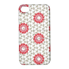 Stamping Pattern Fashion Background Apple Iphone 4/4s Hardshell Case With Stand by Onesevenart